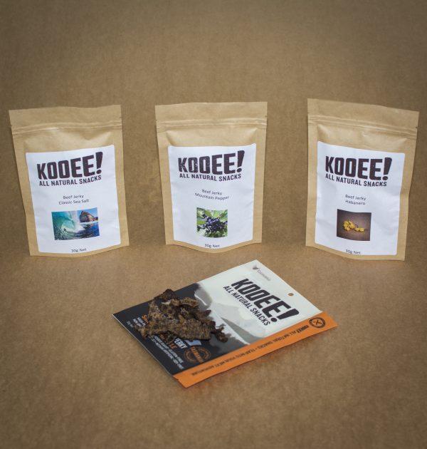 KOOEE Grass Fed Beef Jerky Sample Pack