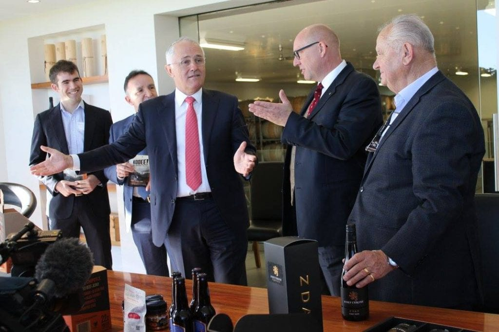 Malcolm Turnbull with KOOEE and Josef Chromy