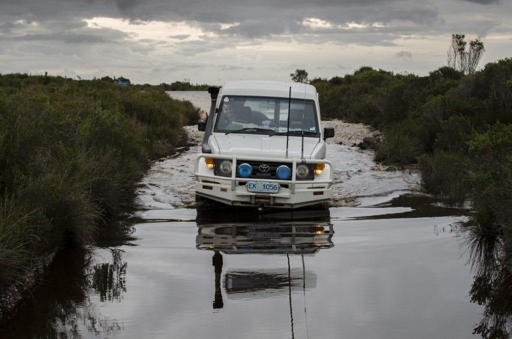 4wd-through-water-balfour-tasmania_27969575515_o