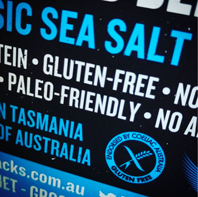 Coeliac Australia logo on KOOEE box