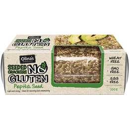 Gluten-free crackers - keto snack.