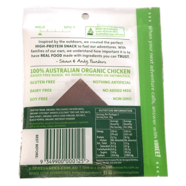 Chicken Jerky Back of Pack