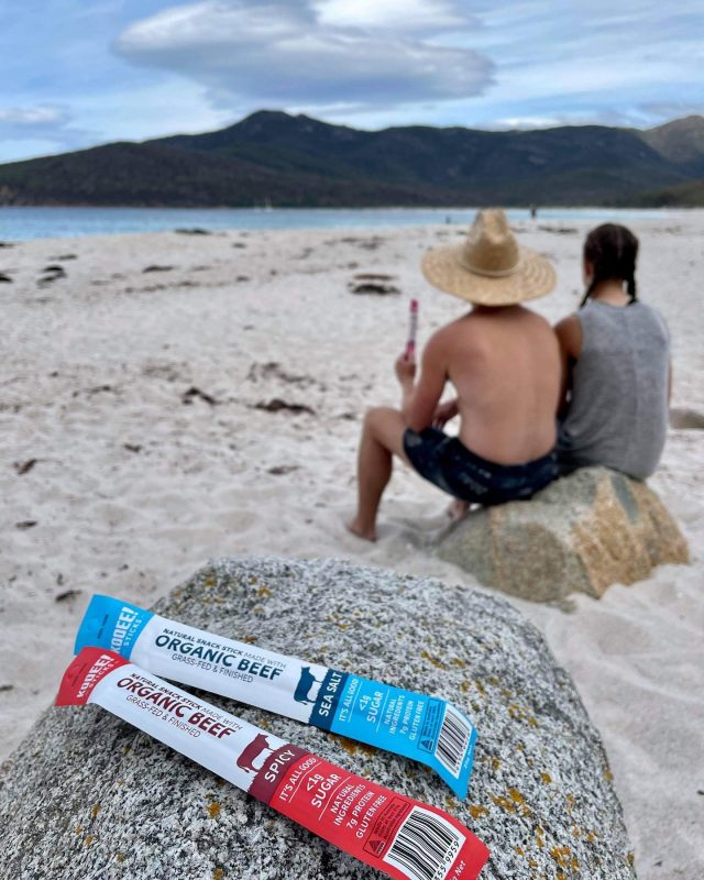 Beach camping trip and you can only choose one. 🌊 or 🌶?  #wheredoyoukooee #snacksticks #organicbeef  📸: @philbeastie  . . . . . . . . . . .  #beefjerky #glutenfree #keto #ketogenic #ketodiet #ketoaf #ketoeats #ketosnacks #biltong  #lowcarb #lchf #healthykidsfood #healthykidssnacks #twiggystick #lunchbox #ketoaus #ketoaustralia #ketoaustralia🇦🇺 #lowcarbaustralia #lunchboxideas #coeliac  #ketolifestyle #carnivorediet #carnivoreketo #carnivorelife #tasmania #wineglassbay