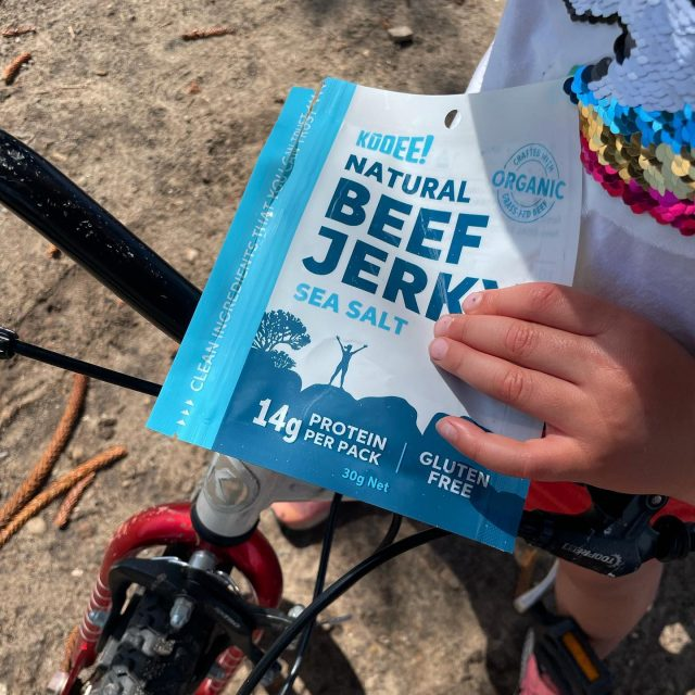 Quick snack to refuel on the way to the playground. 🚴♀️😎  📣 Our Sea Salt Jerky is also back online and available via our website! Essential healthy fuel for every kid on two wheels!  #wheredoyoukooee #jerky #healthykidsfood . . . . . . . .  #beefjerky #glutenfree #keto #ketogenic #ketodiet #ketoaf #ketoeats #ketosnacks #biltong  #lowcarb #lchf #healthykidsfood #healthykidssnacks #lunchbox #sydneyfoodie #ketoaus #ketoau #ketoaustralia #ketoaustralia🇦🇺 #lowcarbaustralia #lunchboxideas #coeliac  #ketolifestyle #kidscycling #bondibeach #kidssnacksideas #lunchboxforkids #carnivorediet